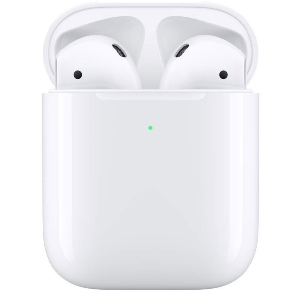 Bluetooth гарнитура Apple AirPods 2 With Wireless Charging Case White MRXJ2